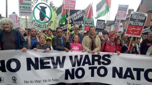 August 30, 2014 mass demonstration against NATO Summit in Newport, Wales
