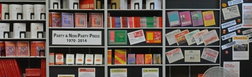 Display of party and mass party publications at the Workers' Centre on the occasion of the 44th anniversary of the Party press.