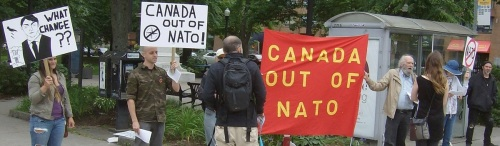 Halifax action, July 9, 2016 on the occasion of the NATO summit in Warsaw.