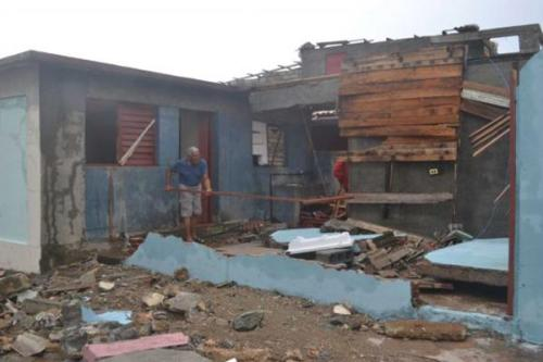 Damage caused by Hurricane Matthew in Cuba's so-called founding city | Arelys Alba Twitter
