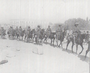 British colonialist troops march into Damascus, October 2, 1918