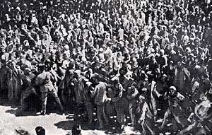Demonstration in Damascus, Syria against Balfour's visit to the region in 1925.