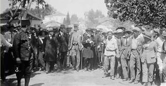 Oblivious to Palestinians, Balfour visits Jewish colonial settlements in Palestine during his 1925 trip.
