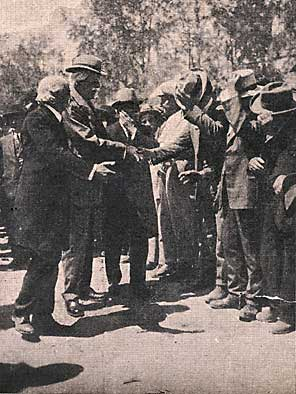 Balfour greeted in Tel Aviv.