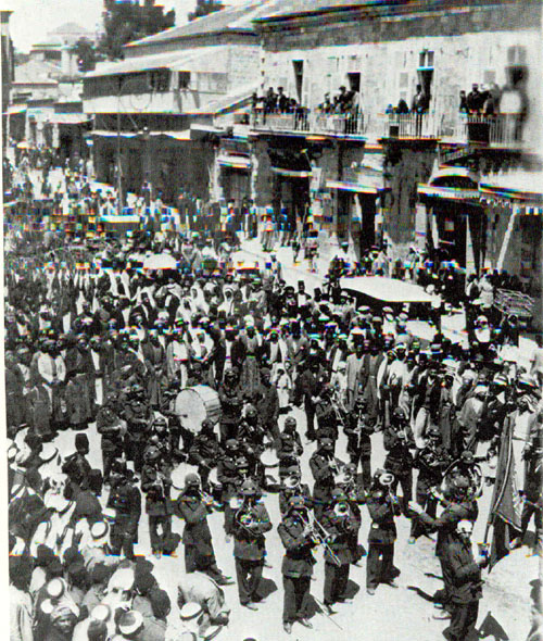 Palestinians demonstrate against Jewish immigration, 1930