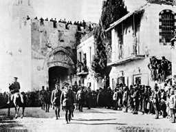 "Allenby entered Jerusalem on December 9, 1917 and declared, ""Today the Crusades have come to an end."""