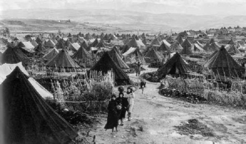 Refugee camp of Palestinians in 1948