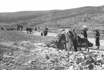 Des Palestiniens chassŽs de leurs terres par les juifs, en 1948