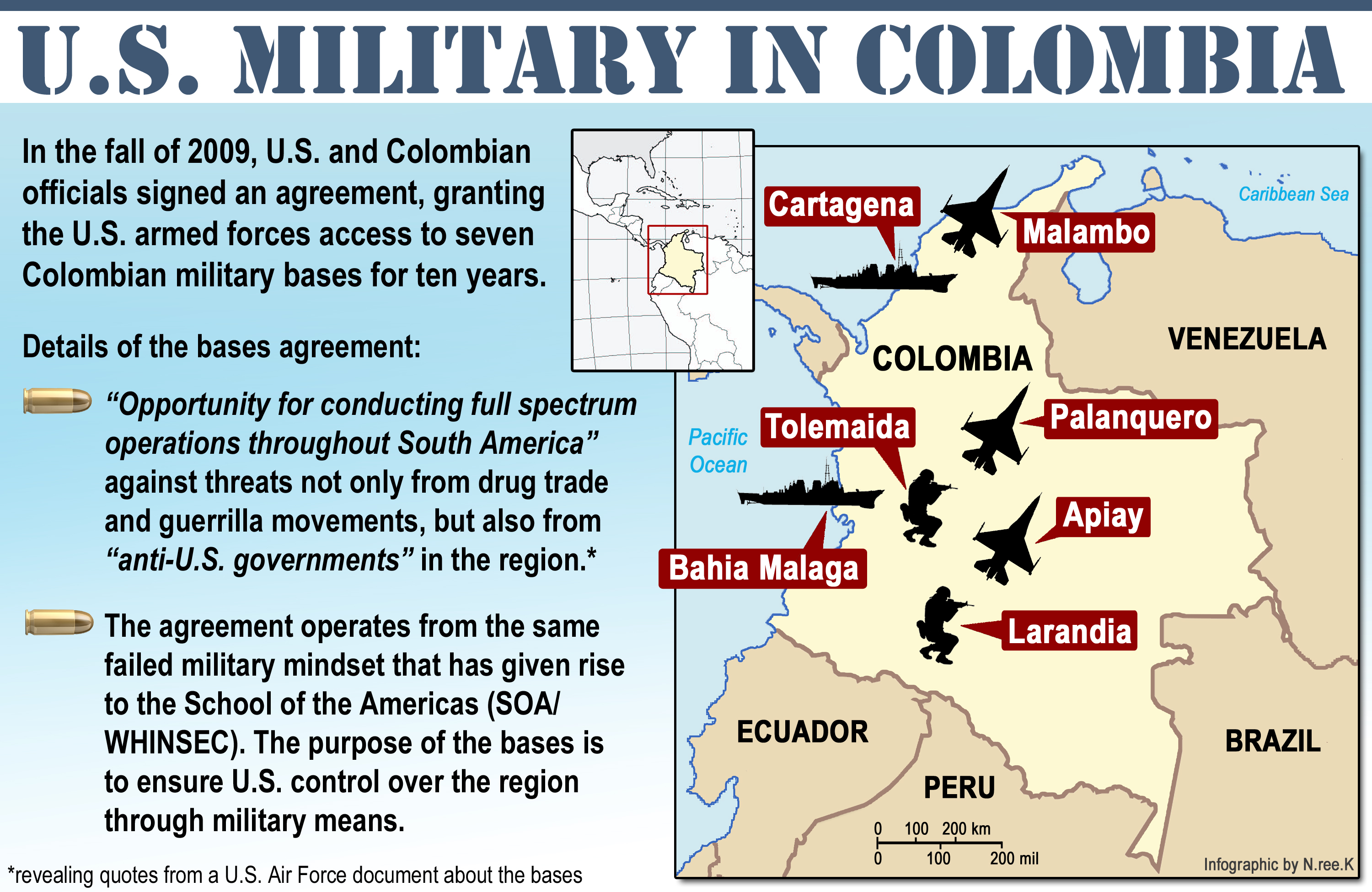 Us Military Presence In Latin America And The Caribbean Tony Seed S Weblog
