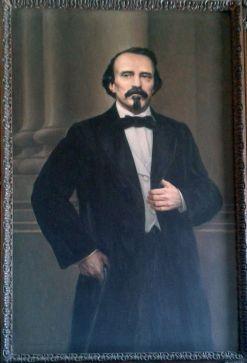 Portrait of Carlos Manuel de Céspedes in the Museum of the Revolution Havana Cuba