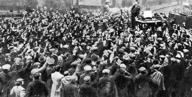 19160100-BritainLondonProtestConscriptionActCr