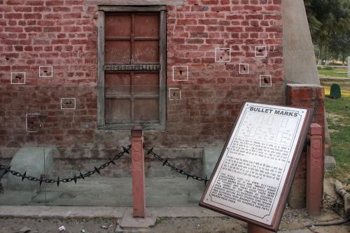 Jallianwala Bagh - Bullet marks