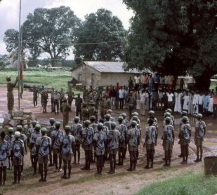 1974.paigc forces raise the flag of guinea-bissau