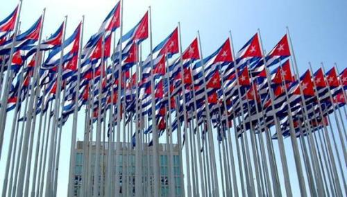 cuban flags.granma