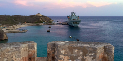 2019.02.05.HMS Mounts Bay at Curacao