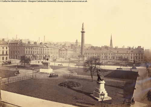 A photograph of George Square by Thomas Annan of Glasgow (1829-1887)