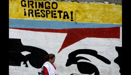 "One of many ""Gringo, Respect"" murals in Caracas"
