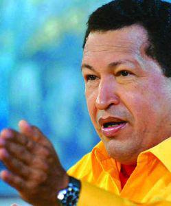 MARCELO GARCIA/AFP Venezuelan President Hugo Chavez.
