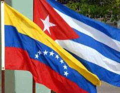 Cuba-Venezuela flags