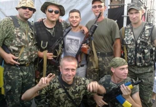 2019.04.Zelensky with punisher battalion
