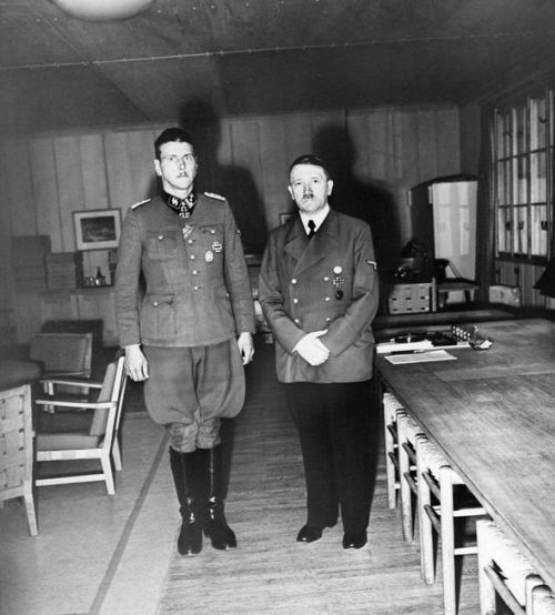 During the war Skorzeny was Hitler's favourite bodyguard and was awarded the highest Nazi decoration